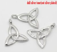 "5 Silver Celtic Knot Pendants 23x20mm(7/8""x3/4"")"